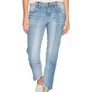 Silver Jeans Izzy Cropped Raw Hem Denim Crop Denim